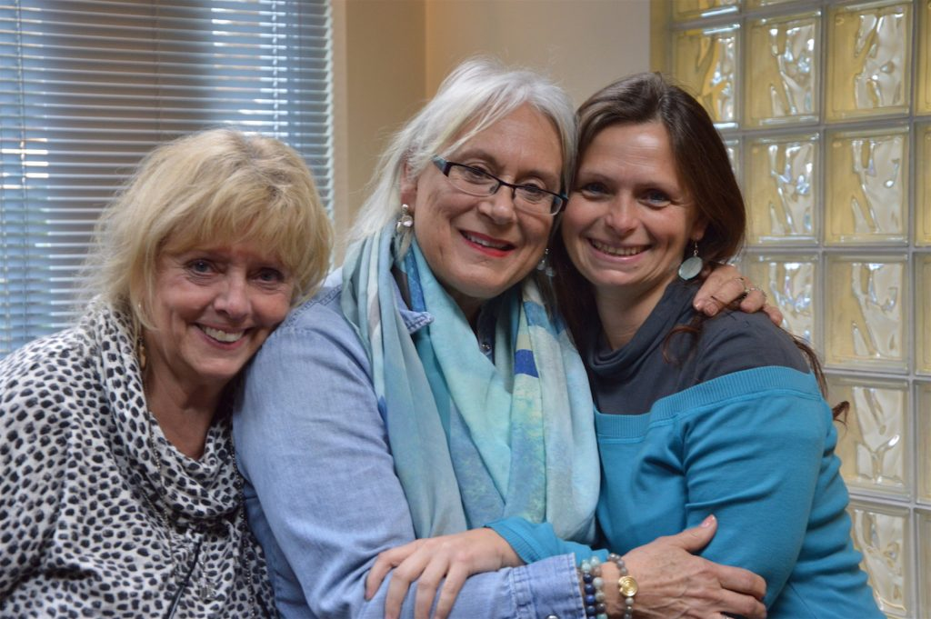 Carole Guest and Pamela Bullard taking a long journey from the US, and I was travelling from Greece to Ireland to meet them